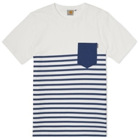 Carhartt Tempe Tee White And Metro Blue
