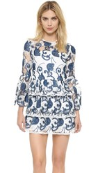 Alexis Altha Dress Blue Embroidery