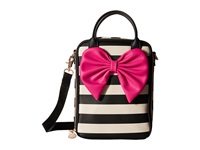 Betsey Johnson Bow Tails Lunch Tote Stripe Tote Handbags Multi