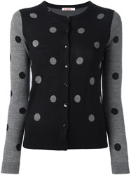 Sun 68 Polka Dot Button Down Cardigan Grey