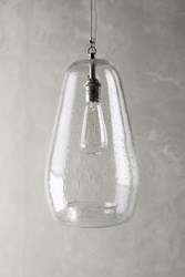 Anthropologie Glass Carafe Pendant Clear