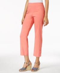 Jm Collection Pull On Cropped Pants Only At Macy's Porcelain Rose