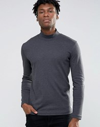 Selected Homme Turtle Neck Sweat Anthrocite Grey