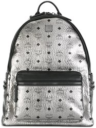 Mcm Monogram Metallic Backpack
