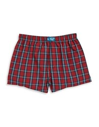 Original Penguin Plaid Boxer Biking Red