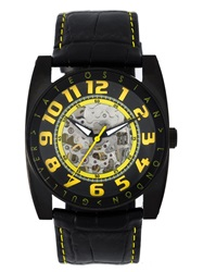 Tateossian 'Gulliver Skeleton Sport' Watch Black