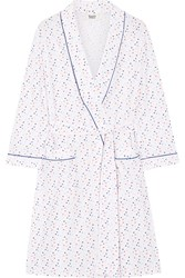 Sleepy Jones Isa Swiss Dot Cotton Poplin Robe White