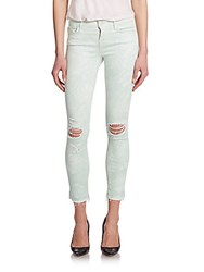 J Brand Photo Ready Low Rise Distressed Tie Dye Ankle Jeans Cloud
