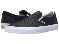 Vans Classic Slip On Suede Checkers Black Skate Shoes