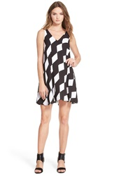 Sam Edelman Double V Neck Shift Dress Black