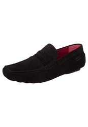 Melvin And Hamilton Driver Moccasins Black