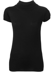 Cividini Rolled Neck Top Black