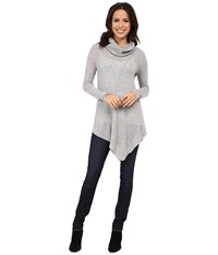 Culture Phit Asymmetrical Cowl With Seam Details Sweater Silver Women's Sweater