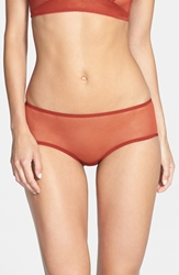Only Hearts Club 'Whisper' Back Ruched Hipster Briefs Copper