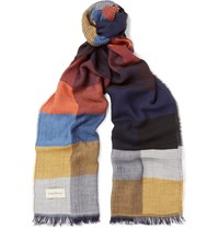 Oliver Spencer Mexico Colour Block Woven Scarf Multi