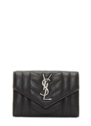 Saint Laurent Poncho Monogrammed Quilted Leather Wallet