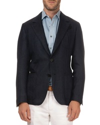 Berluti Textured Herringbone Jacket Navy Black