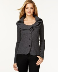 Charter Club Ruffle Detail Sweater Blazer Only At Macy's