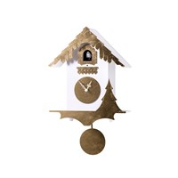 Diamantini And Domeniconi Chalet Wall Clock White Gold Leaf