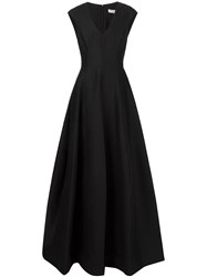 Halston Heritage Floral Print Maxi Dress Black