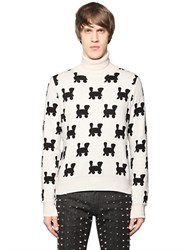 Au Jour Le Jour Trains Intarsia Wool Blend Sweater