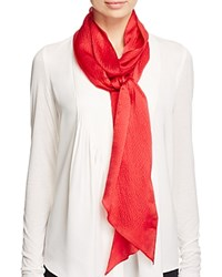 Echo Solid Long And Skinny Silk Scarf Cherry