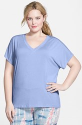 Plus Size Women's Hard Tail Slouchy V Neck Tee