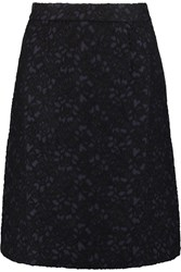 Mother Of Pearl Clarence Flocked Jacquard Skirt Blue