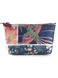 Luisa Cevese Riedizioni Japanese Print Make Up Bag Blue