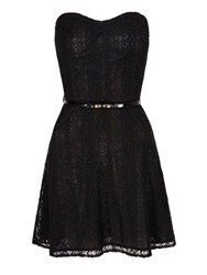 Mela Loves London Lace Strapless Bandeau Dress Black