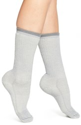 Women's Wigwam Merino Wool Blend Crew Socks Light Grey