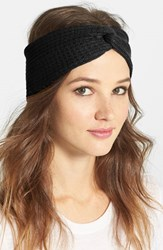 Echo 'Twisted' Head Wrap Black