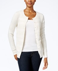 Charter Club Petite Striped Cardigan Only At Macy's Vanilla Bean