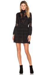 Ganni Mckinney Pleat Lace Dress Black