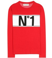 Etre Cecile Printed Knitted Sweater Red
