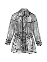 Red Valentino Redvalentino Clear Trench With Trim Clear Black