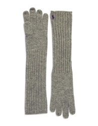 Polo Ralph Lauren Long Shetland Wool Gloves Fawn Grey