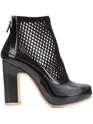 Pierre Hardy X Sacai Mesh Ankle Boots Black