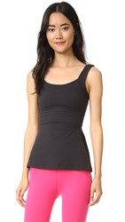 Beyond Yoga Kate Spade New York Peplum Cami Black