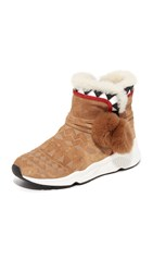 Ash Mongolia Sherpa Booties Crepe Black White Red