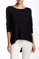 Michael Stars Boatneck Split Back Tee Black