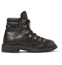 Guidi Distressed Leather Boots Black