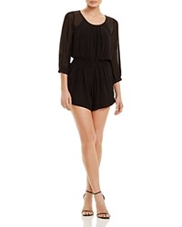 Twelfth St. By Cynthia Vincent Twelfth Street By Cynthia Vincent Beaded Shoulder Chiffon Romper Black
