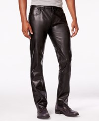 Inc International Concepts Men's Lex Slim Fit Faux Leather Pants Only At Macy's Deep Black