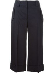 Jil Sander Navy Tailored Culottes Blue