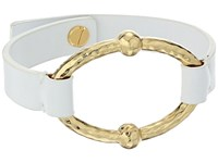 Lauren Ralph Lauren Bali Leather Metal Link Bracelet Gold 2 Bracelet