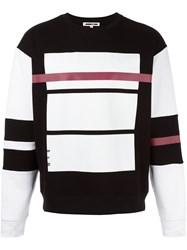 Mcq By Alexander Mcqueen Red Line Print Sweatshirt Black