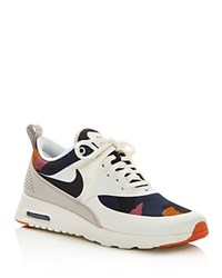 Nike Air Max Thea Jacquard Camouflage Lace Up Sneakers White Black Orange