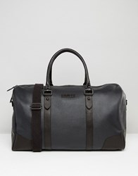 Barney's Barneys Structured Leather Holdall In Black Black