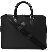 Dunhill Guardsman Leather Trimmed Canvas Bag Black